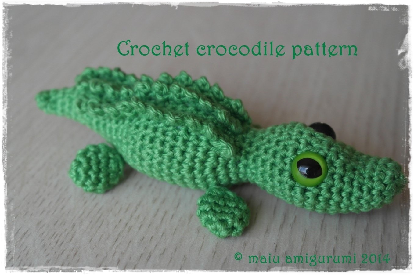 Free Crochet Patterns Using The Crocodile Stitch : Free pattern ? Crocodile - maiu amigurumi