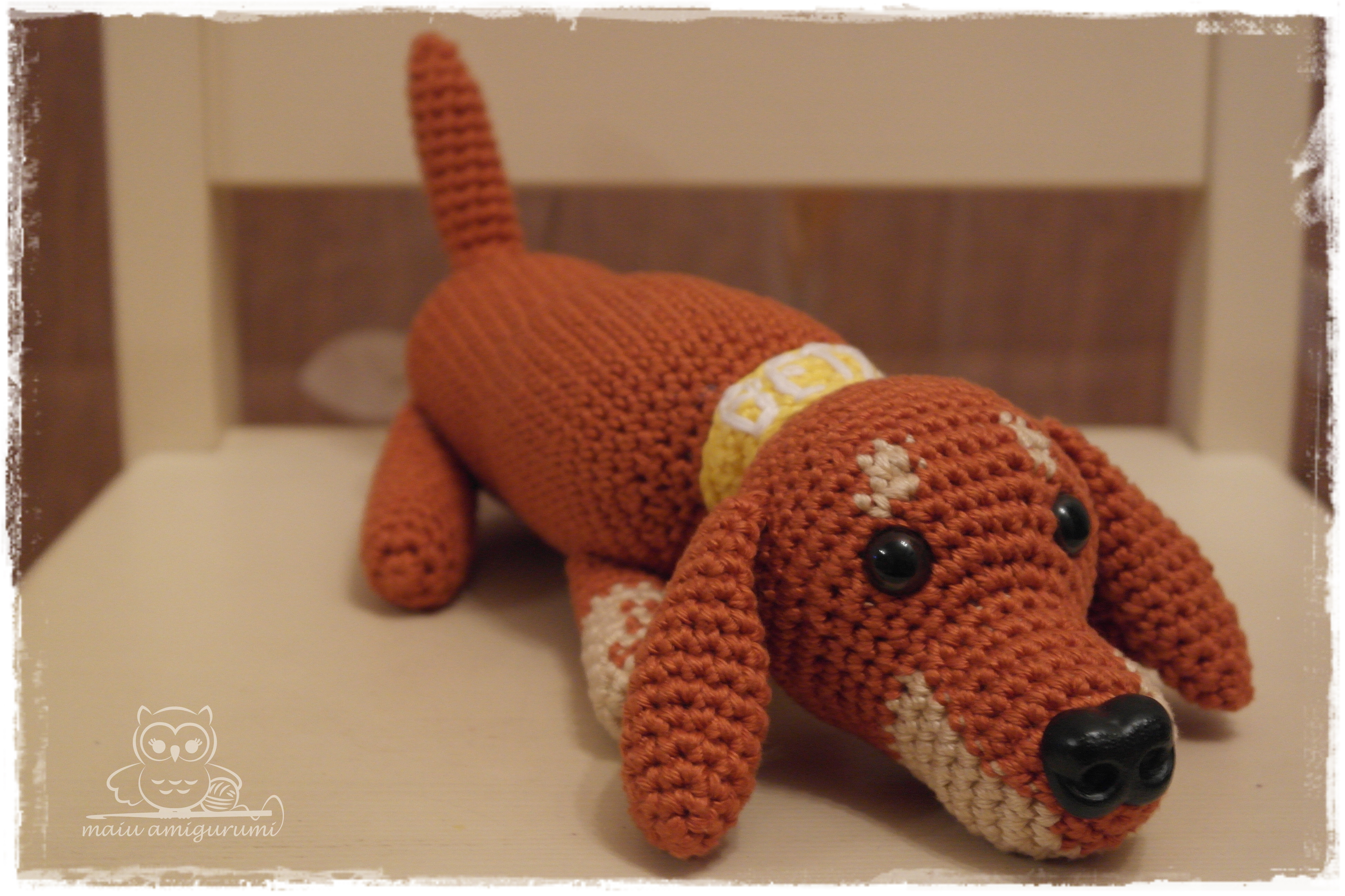 Amigurumi Wiener Dog Pattern : Betty the dachshund maiu amigurumi